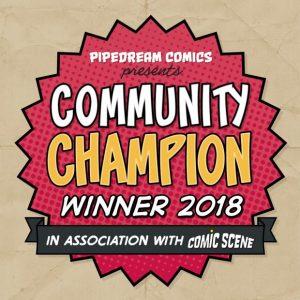 Community Champion 2018 logo
