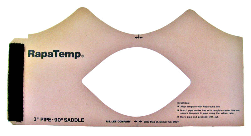 4 inch pipe saddle template
