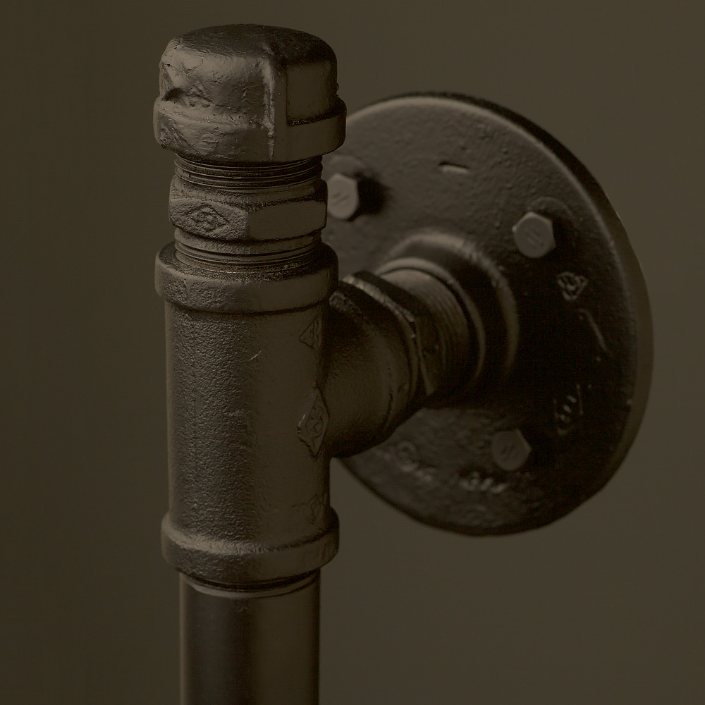 Industrial Pipe Fitting Door Handle With Tee and End Cap