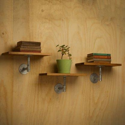 Industrial Plumbing Pipe Single Support Shelf
