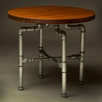 Industrial Plumbing Pipe Large Round Coffee Table