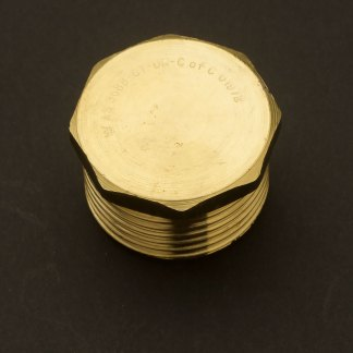 One Inch Solid Brass 34mm plug M