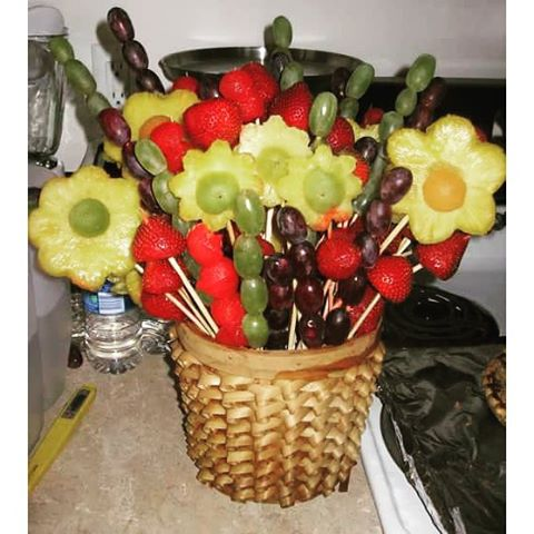 #fruitart #easter #bouquet #vegan #rt4