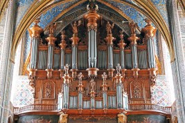 Albi organ, photo by Claude Valette