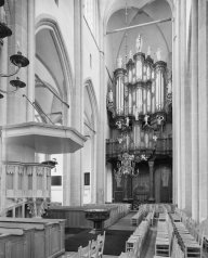 Bovenkerk organ, photo by Ton van der Wal (July 1972)