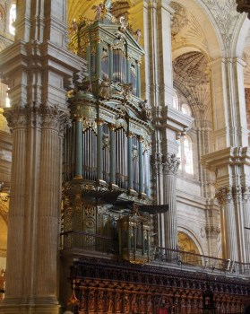 Málaga organ, photo by Hajotthu