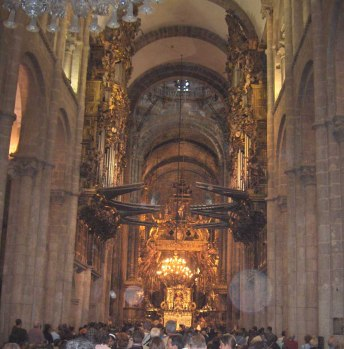Santiago de Compostela organ, photo by Georges Jansoone