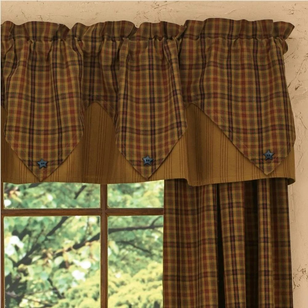 Country Point Valance Curtains  Primitive Spice 72 x 15