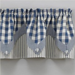 Fall Kitchen Curtains Foldable Cart Country Valance | York Blue Point