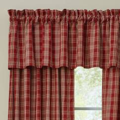 Fall Kitchen Curtains Cost Of Remodelling A Country Style   Barnside Plaid Valance 72