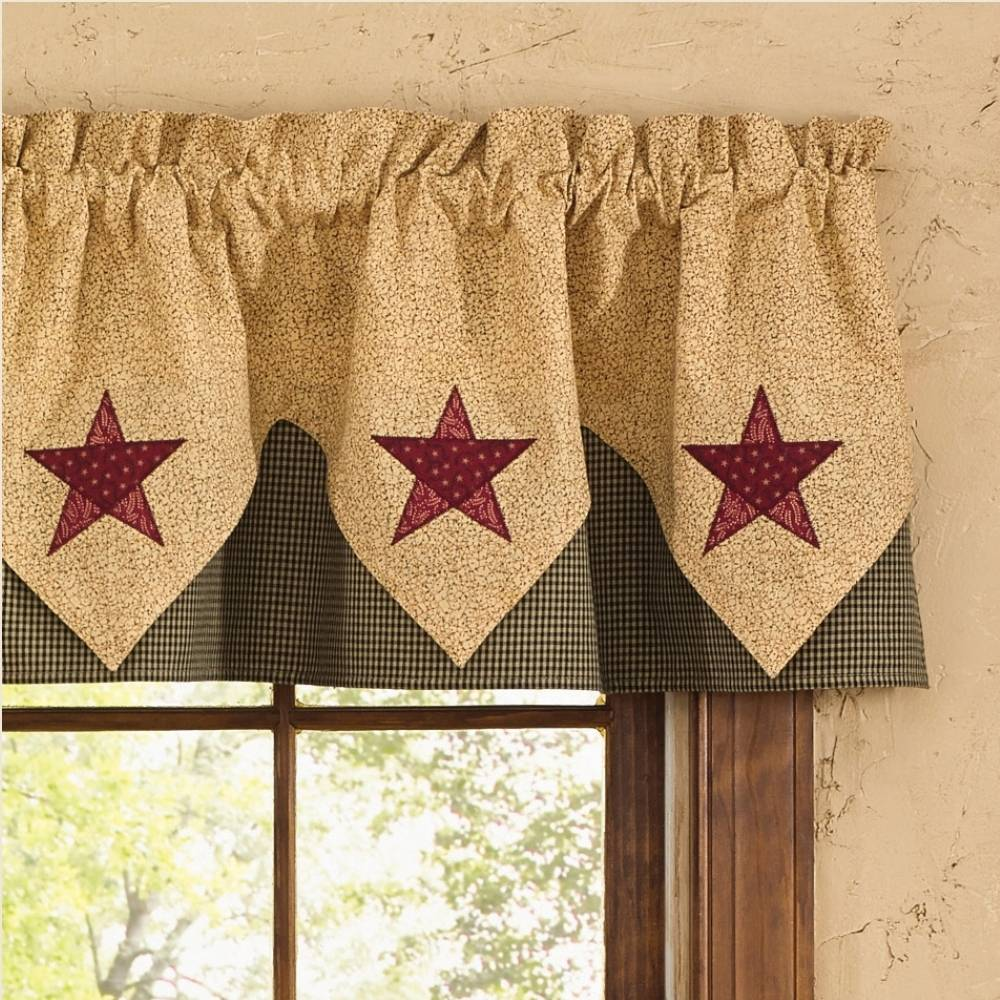 Modern Farmhouse Valance Country Point Valance Curtains | Country Star