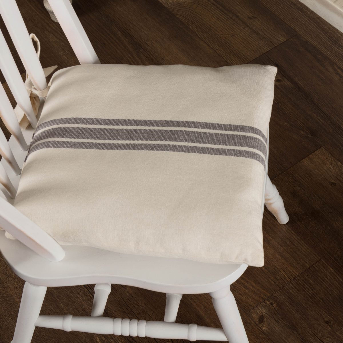 Grain Sack Chair Market Place Gray Grain Sack Chair Pad