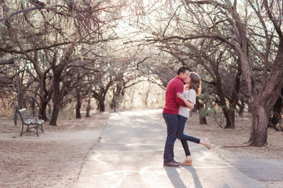agua caliente tucson engagement session
