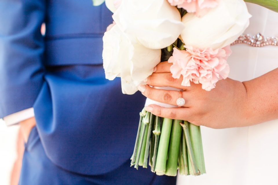 bouquet and ring