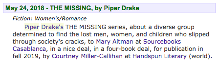 The Missing by Piper J. Drake