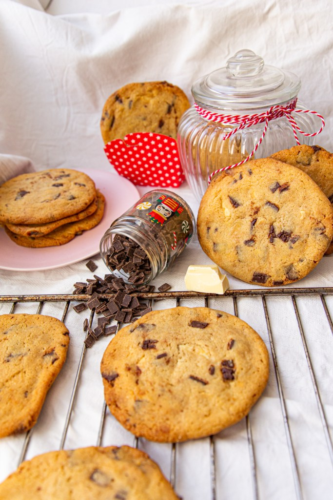 Soft-Baked Triple Chocolate Cookies
