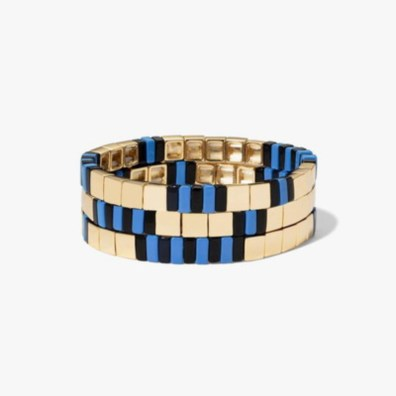 Blue black and gold