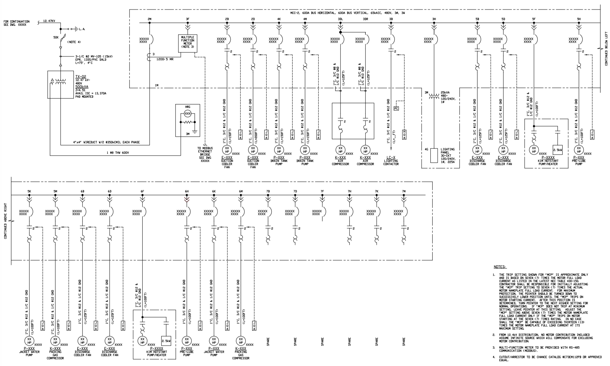 Electrical One Line Diagram