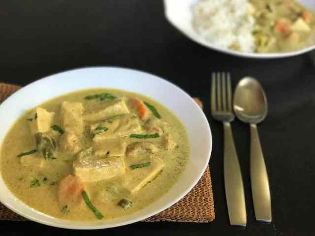Thai Green Curry Tofu Instant Pot Pressure Cooker