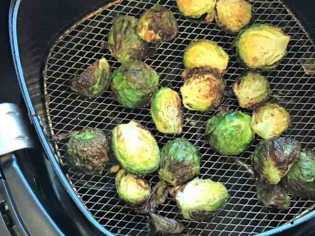 Brussels sprouts air fryer cooked