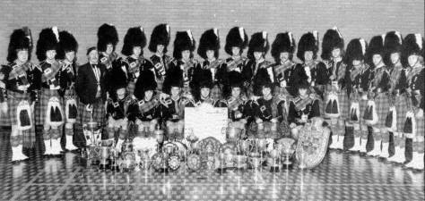 P/M RT Shepherd and his Worlds winning band pictured in 1978