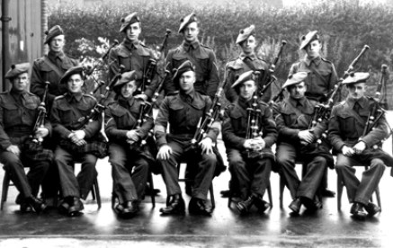 DonaldMaclean (front, centre) and the Seaforths in Aldershot in 1939. to Donald's immediate right is P/M Donald MacLeod