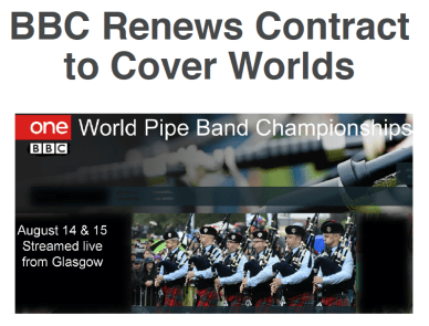 How Pipe Band Magazine broke the story on July 1