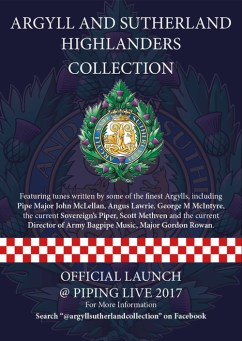 The new Argylls book which will contain many of the compositions of John McLellan, Dunoon