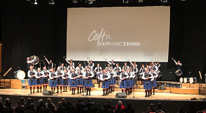 Review: Johnstone Pipe Band Concert at Celtic Connections 2018
