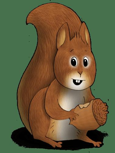 Squirrel wNut transparent