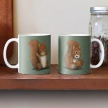 TwoMoods Squirrel Mug