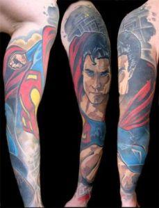 tattoo braço superman