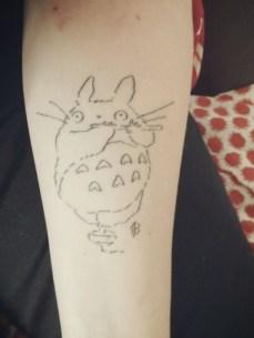 guerrilha nerd tatuagem nerd arte totoro