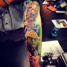 guerrilha nerd tatuagem nerd arte yoda star wars