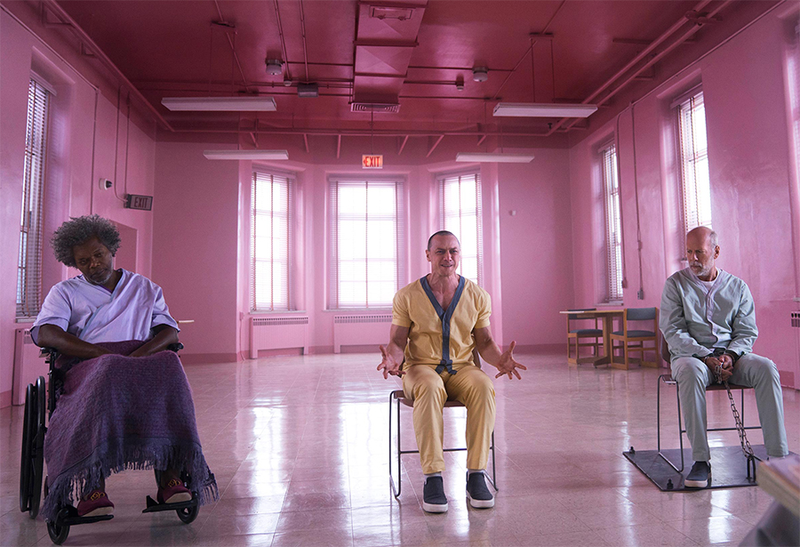 Glass: Samuel L. Jackson, Bruce Wills e James McAvoy se encontram nas fotos da sequência de Fragmentado