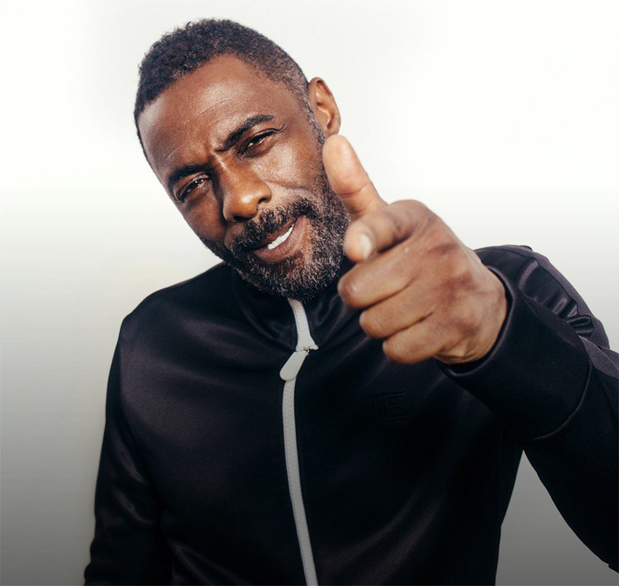 Idris Elba se diverte com boato de 007 e responde com rap clássico do Public Enemy