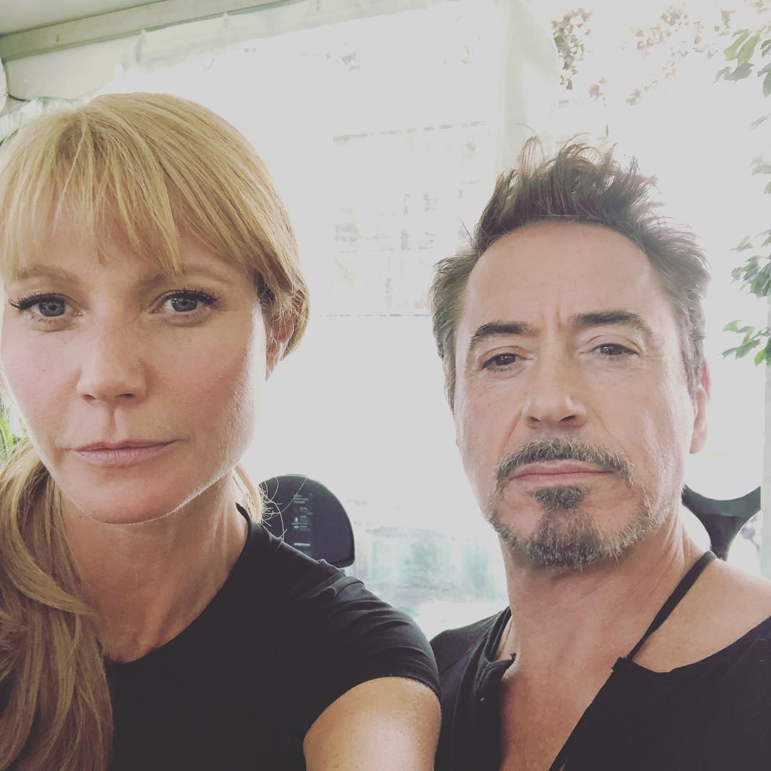 Robert Downey Jr. e Gwyneth Paltrow retornam ao set de Vingadores 4