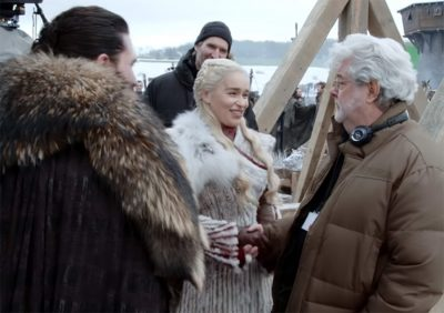 George Lucas dirigiu uma cena da estreia da 8ª temporada de Game of Thrones