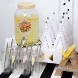 decoracion fiesta tematica infantil descargables papeleria little indian negro blanco amarillo pipolart lamina party pipolart etiqueta botellas conos tipis