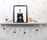 print descargable a3 para lamina bolso tela o camiseta pipolart party bear oso ilustracion