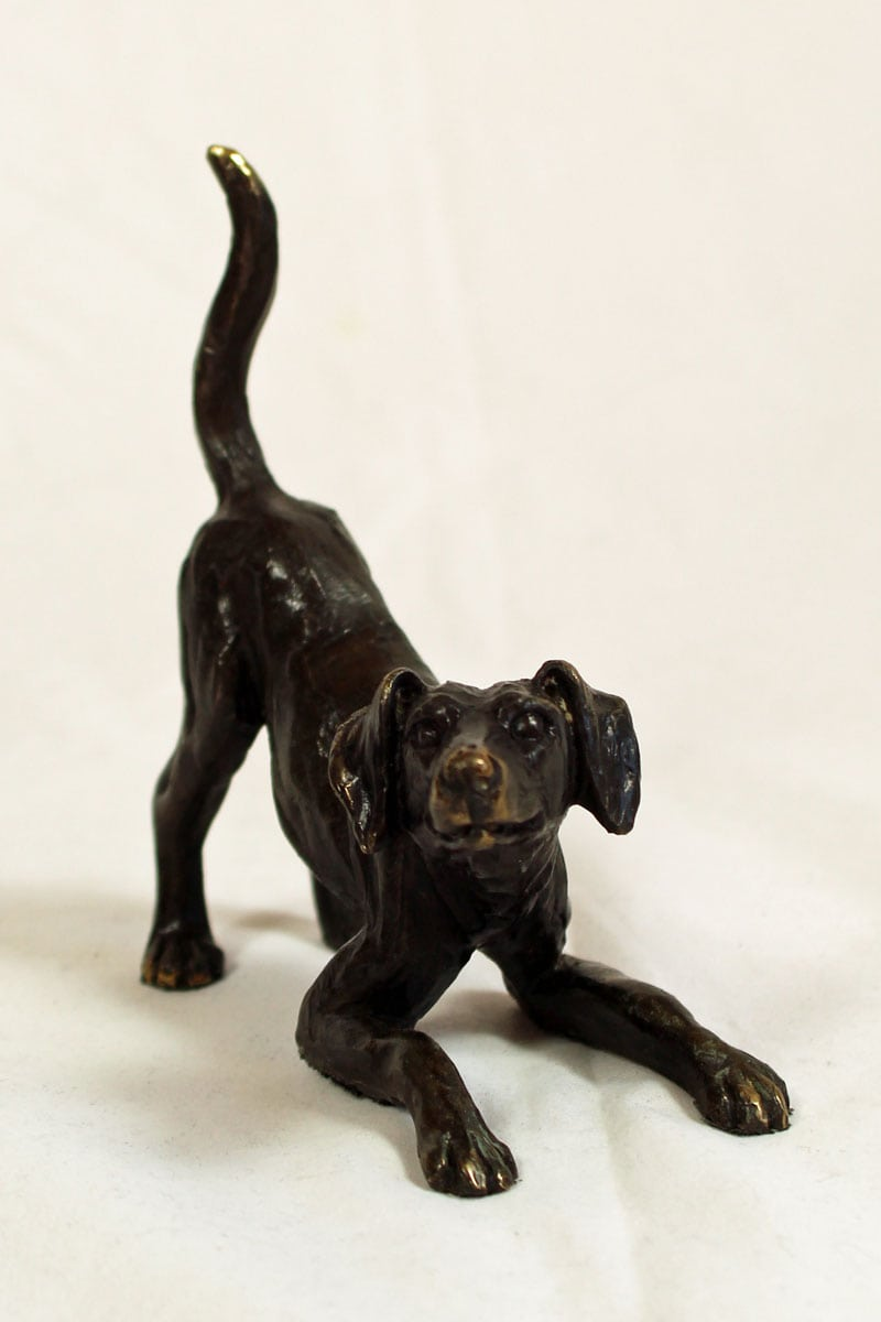 foundry bronze Playful Dog