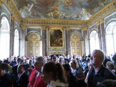 Where Louis XIV welcomed visitors including commoners