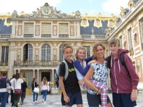 King Louis XIV real bedroom behind us