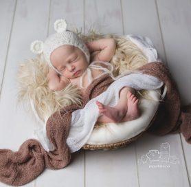 nyfødtfotografering i Fotostudio