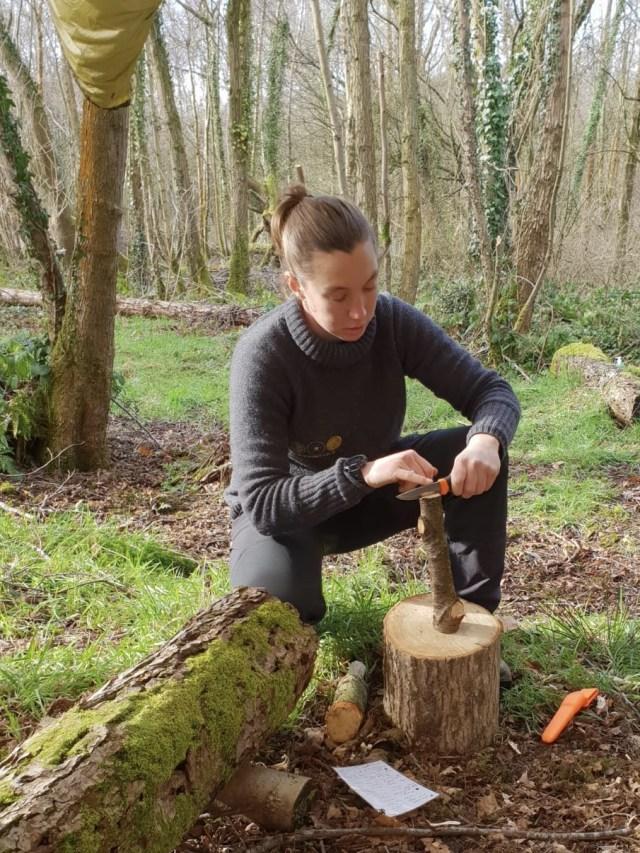 Weekend Bushcraft Course - Battening Instruction