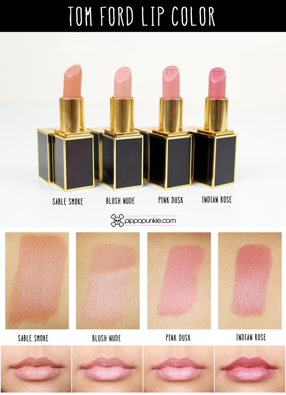 Tom Ford Lip Color Review & Swatches