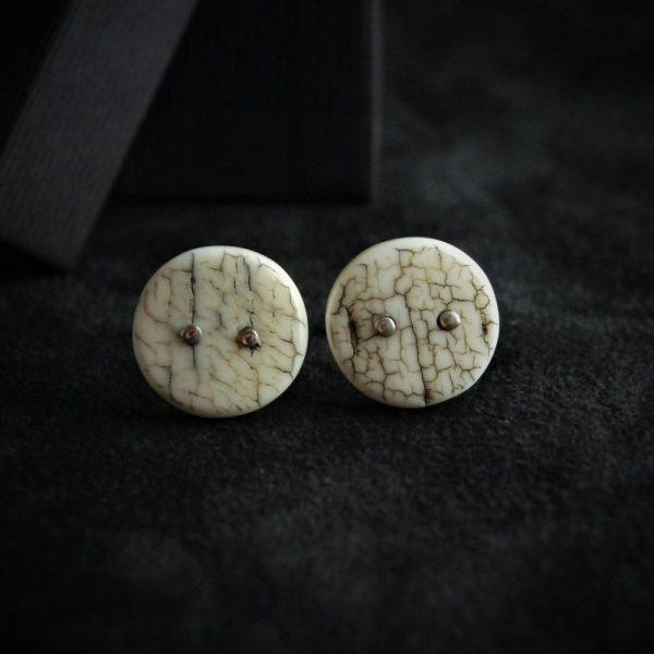 Boutons de manchette ivoire de mammouth - mammoth ivory cufflinks