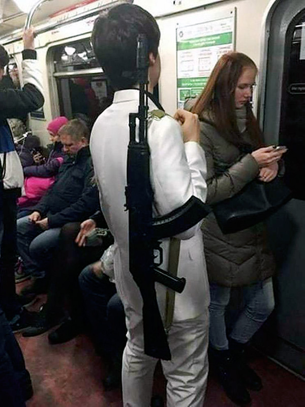 What the fox? Russian woman rides Moscow metro with