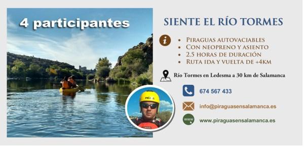 tarjeta descenso piragua rio tormes