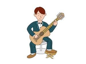 ギターを構えた時の正しい姿勢
